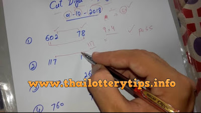 Thai Lottery VIP Tips 100% Sure 3up Cut Digits 01 October 2018