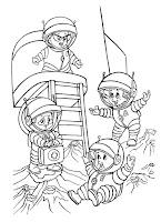 דפי צביעה אסטרונאוטים