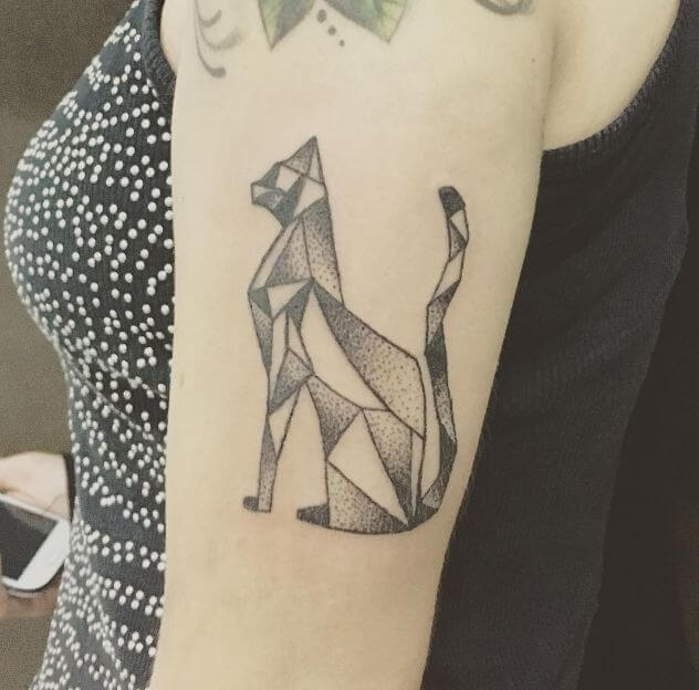 geometric Cat Tattoos