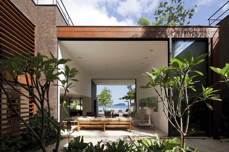 Interior of Modern beach house in Brazil