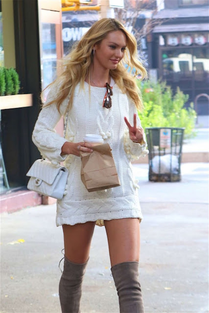 Candice Swanepoel  Out in New York