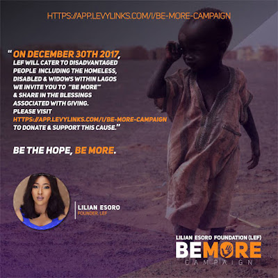 24331718 148265235940226 7361231172594040832 n - ENTERTAINMENT: Lilian Esoro is launching a #BeMore Campaign to care for the Helpless in Nigeria
