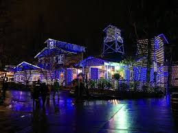 Smoky Mountain Ziplines Christmas lights