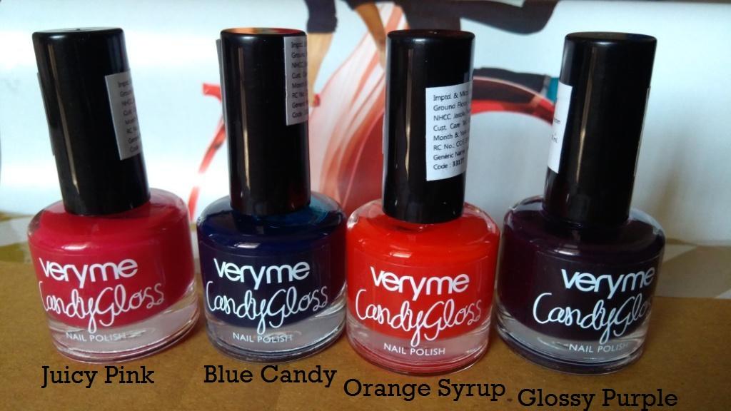 Alive n Kicking: Oriflame Very Me Candy Gloss Nail Polish Review