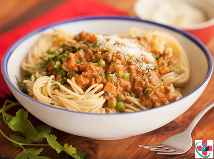 Spaghetti with spicy minced meat recipe