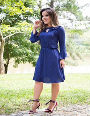vestido azul elegante tumblr