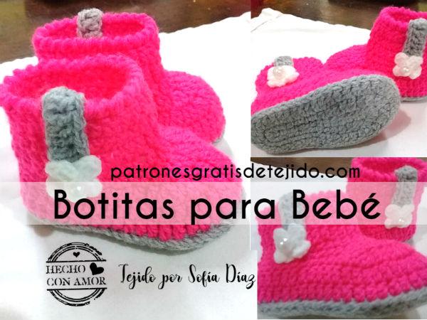 como-tejer-botas-crochet-para-bebes
