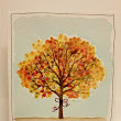Watercolor Autumn Tree Card
