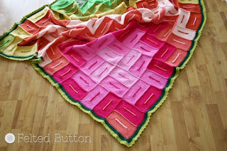 Radiant Blanket Crochet Pattern by Susan Carlson of Felted Button