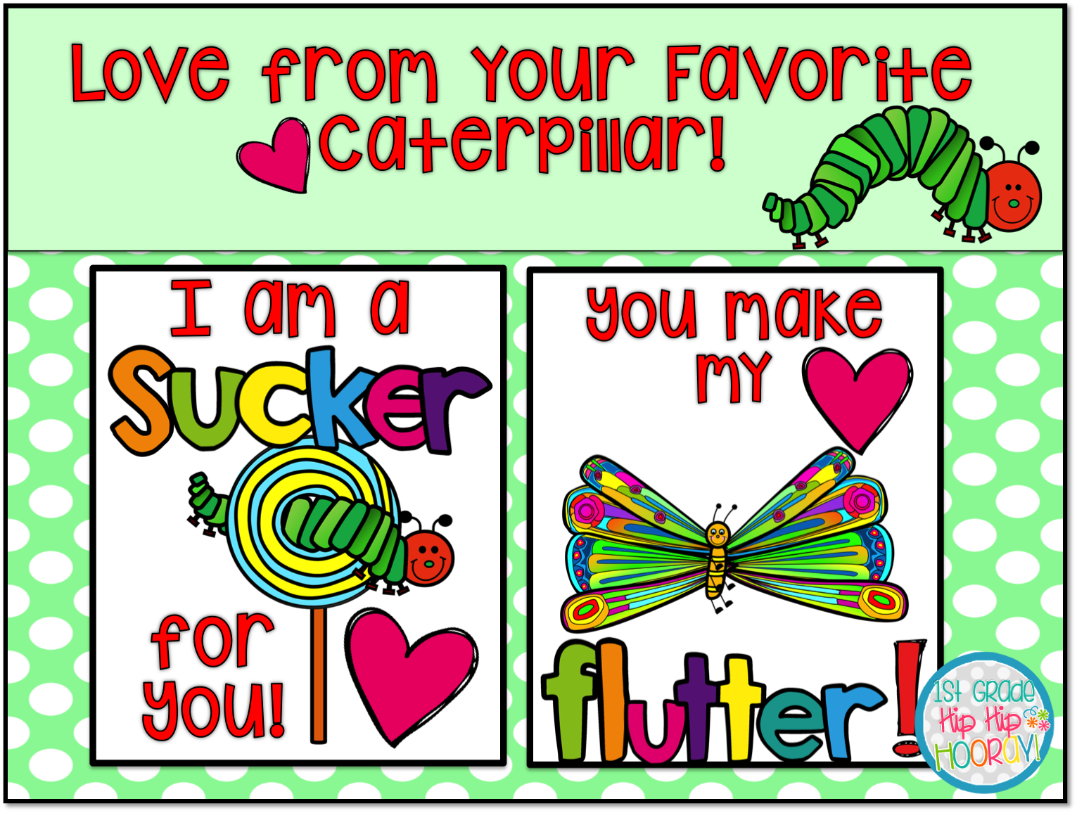1st Grade Hip Hip Hooray Valentine Cards For Your Kiddos