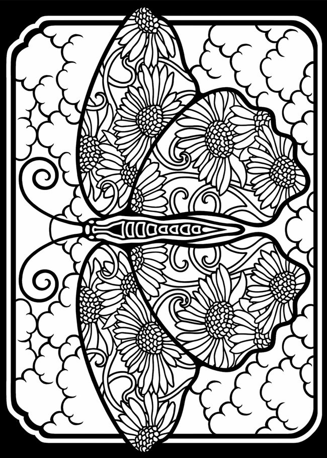 Expose homelessness fancy stained glass window butterfly for Coloring pages of butterflies for adults