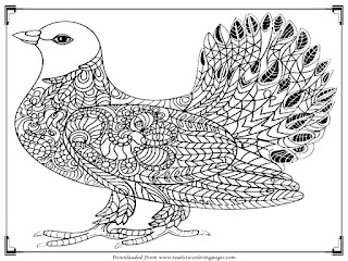 free adult coloring pages bird printable