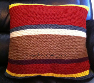 Dr Who Scarf Inspired Cushion Cover - Side 2