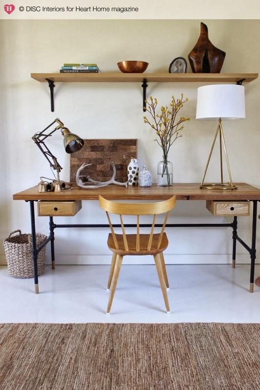mesa de trabajo madera natural