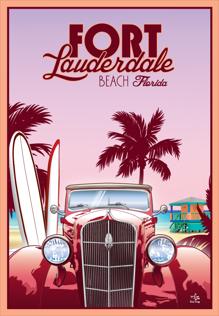 Vectree: Florida Inspired Travel Posters