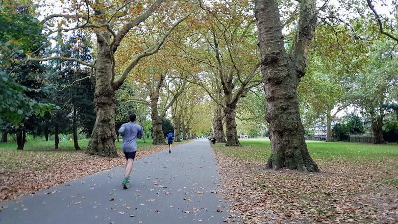 將近秋天的 Southwark Park