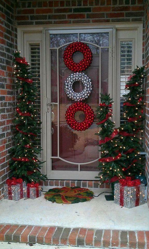 8 ideas de adornos navide os que van en la entrada de la - Decoracion navidena casera ...