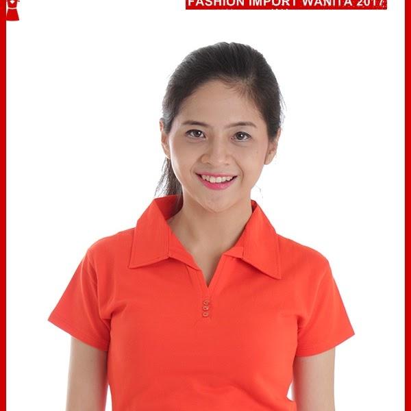 ADR142 Kaos Wanita Orange Polo Wanita Import BMGShop