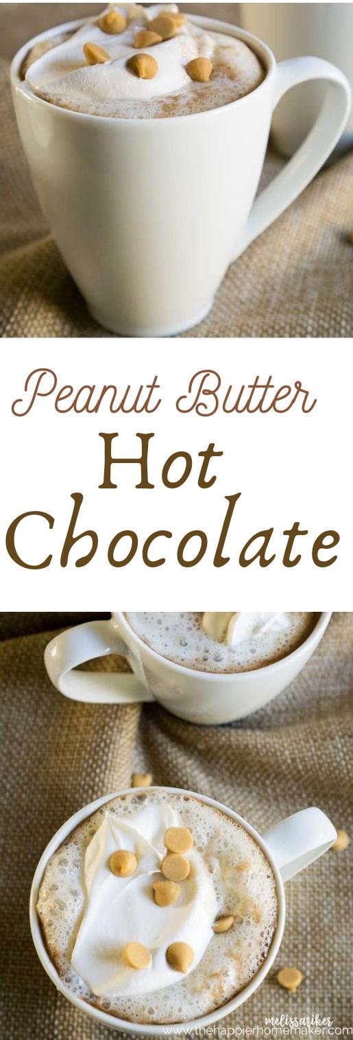 PEANUT BUTTER HOT CHOCOLATE #chocolate #peanut
