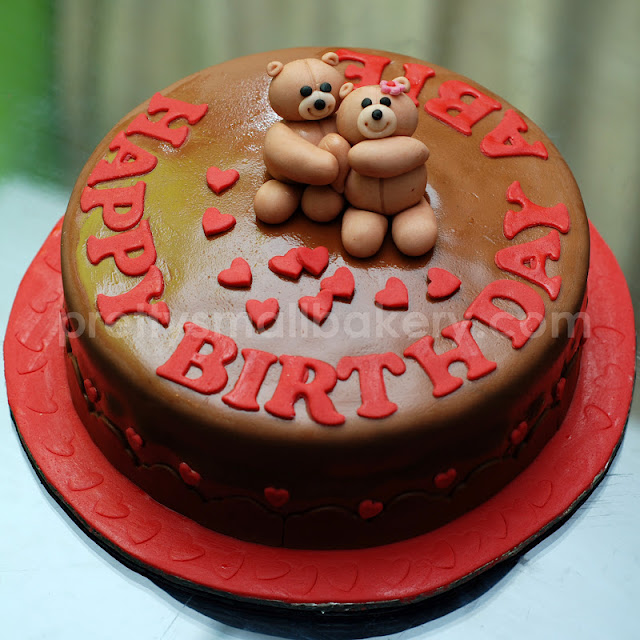 Kek Birthday Bear Untuk Abie Prettysmallbakery
