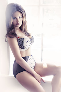Kelly Brook, Polka Dot Underwear set second range for New Look