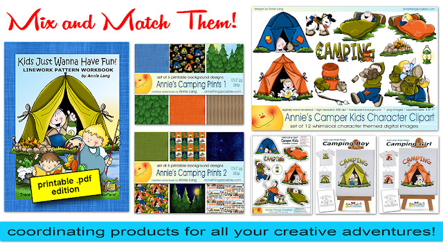 Grab your tent and head on over to get the art you need at Annie Things Possible.