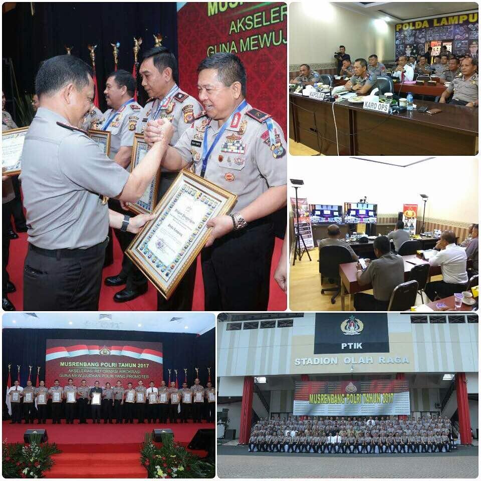 Mantap ! Polda Lampung Raih Peringkat Ketiga Kinerja