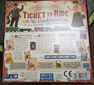 Les Aventuriers du Rail Jeu de cartes verso