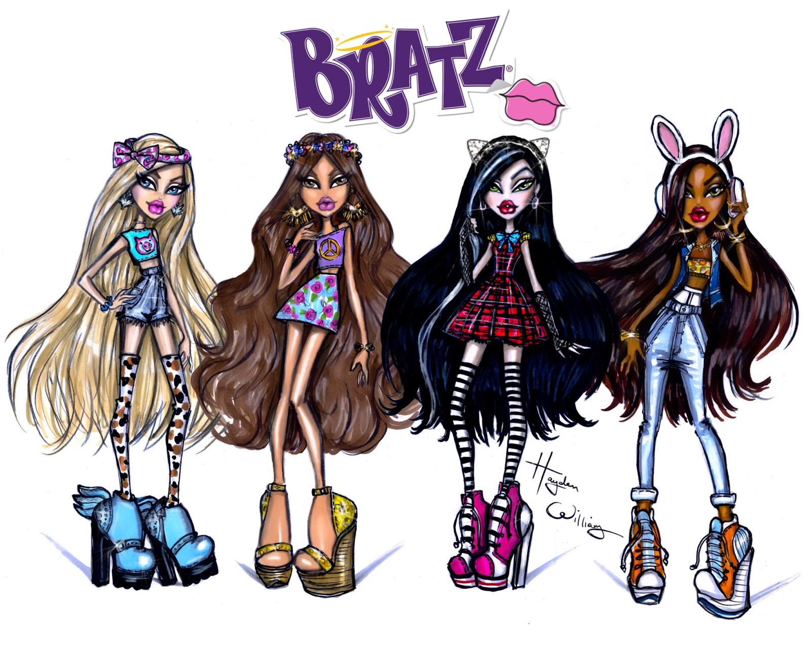 Hayden Williams Fashion Illustrations Bratz By Hayden