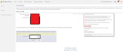 Cara Verifikasi PIN Google Adsense