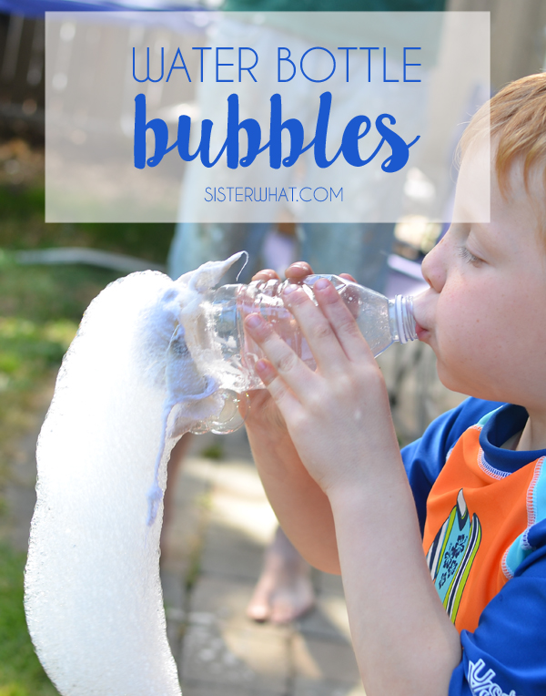 water bottle bubbles; just need a few things already in  your kitchen