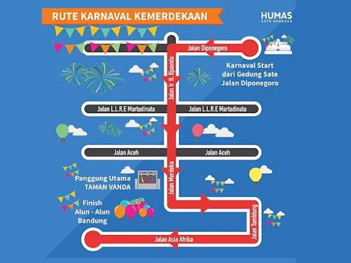 Rute Karnaval Kemerdekaan Bandung 2017
