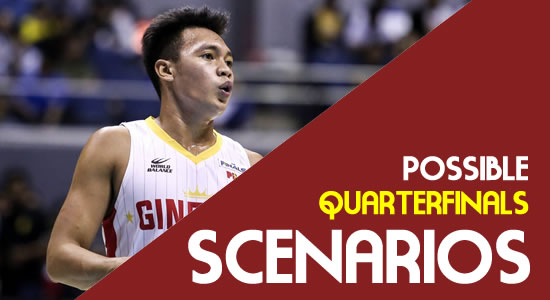 LIST: Brgy. Ginebra Scenarios Entering the Quarterfinals 2018 PBA Governors' Cup