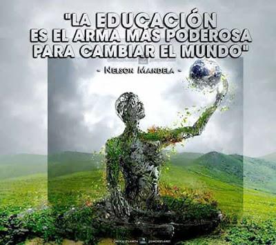 la educación ambiental es el arma mas poderosa para cambiar el mundo