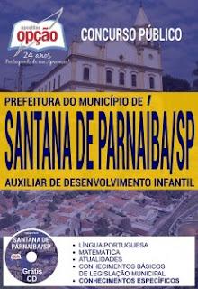 Apostila Auxiliar de Desenvolvimento Infantil Prefeitura Santana de Parnaíba 2018