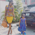 Photogist: Annie Idibia & Daughter Olivia Strike Cute Identical Pose In New Pictures