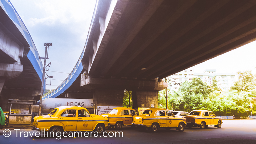 Ohh, I loved these yellow beauties of Kolkata city. They are awesome and pocket friendly. Most of them run on meter, so no scope of cheating. Just be confident and just say the name of place where you want to go. Most of the drivers won't say no, unless the place is very remote.