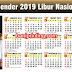 Vector Kalender 2019 Libur Nasional Gratis