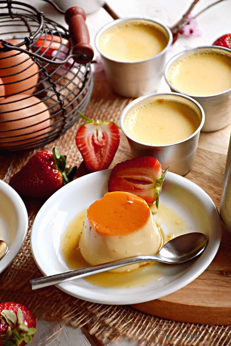 Flan de huevo al horno chez silvia - Flan de huevo sin horno ni bano maria ...