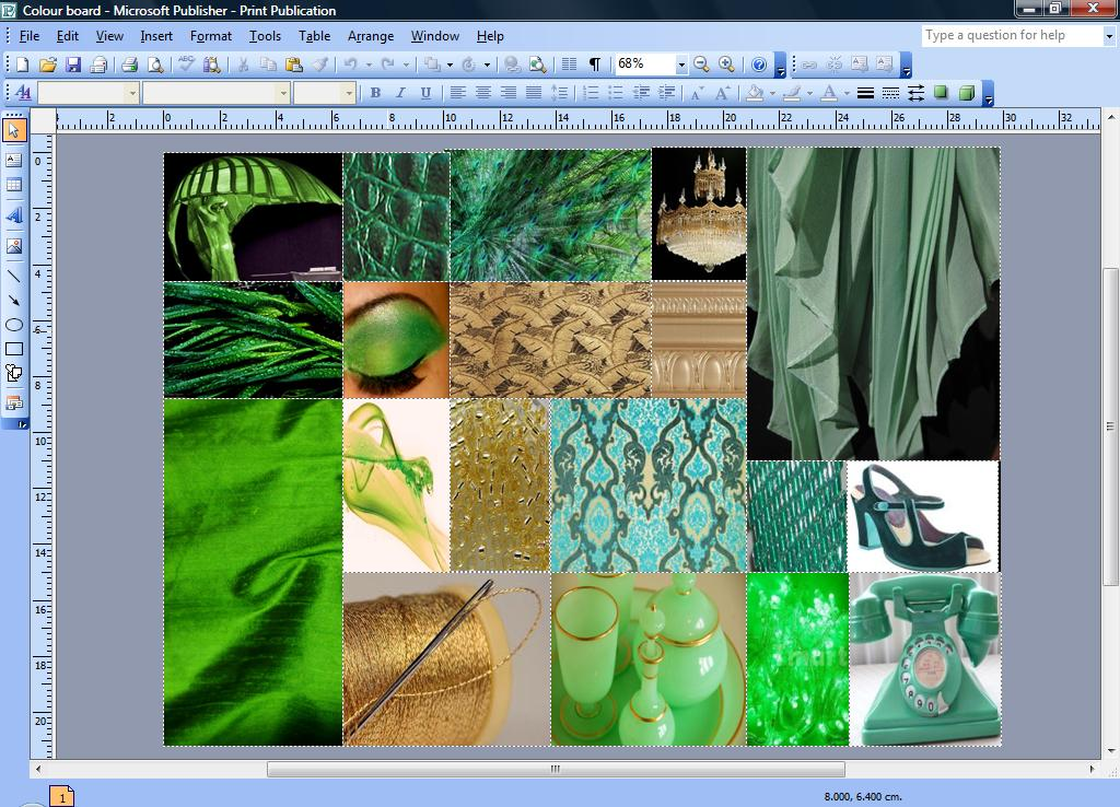 Btec In Fashion And Clothing Mood Board And Colour Board For Design Project