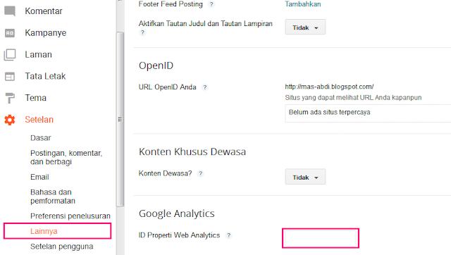 Cara Mendaftar Dan Memasang Google Analytics Di Blog 8