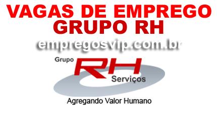 Grupo RH vagas de emprego, Trabalhe