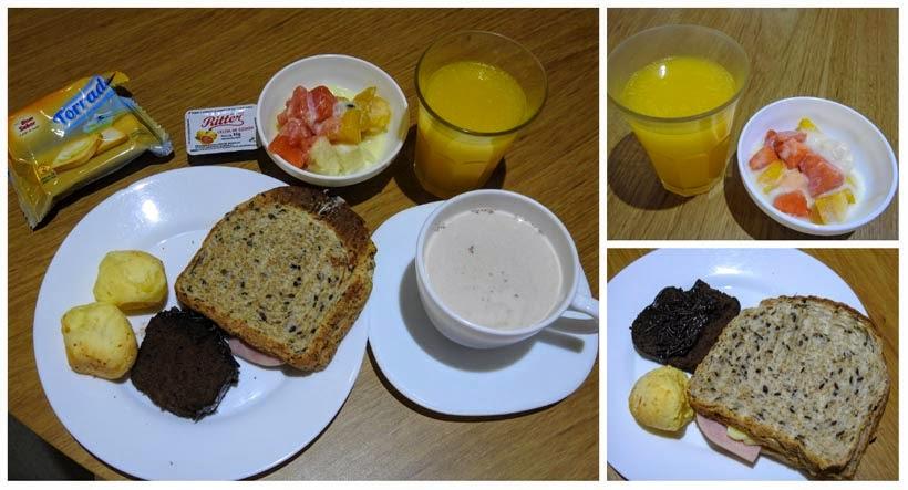 Café da manhã do Ibis - Onde ficar em Criciúma
