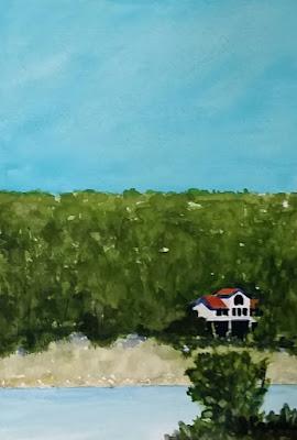 JKeese - Watercolor - Lake House