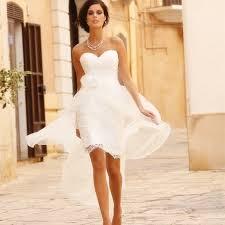 Amazing Casual White Short Dresses For Beach Wedding