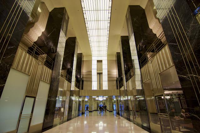 Interior art deco del Chicago Board of Trade