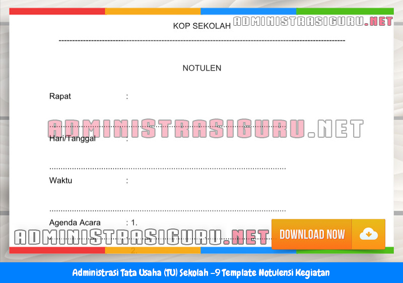 Contoh Format Notulensi Kegiatan Administrasi Tata Usaha Sekolah Terbaru Tahun 2015-2016.docx
