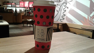 Venti Green Tea Latte holiday cup