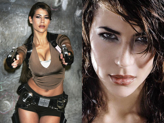 Karima Adebibe lara croft model past today