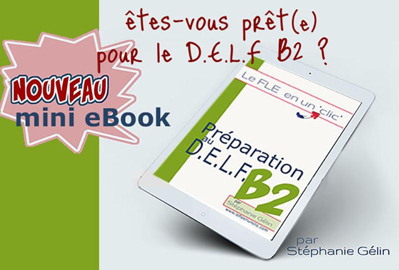 eBook préparation au delf B2, exercices, le fle en un clic, DELF B2